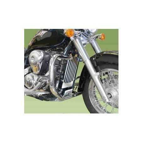 (54397) Protector De Motor (Defensa) Negro (Tubo diametro 30 Mm) Honda Black Widow Vt