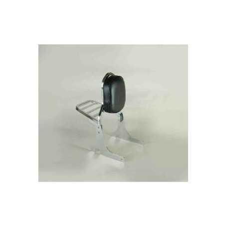 (54540) Respaldo Negro Con Porta Honda Vt 750 Shadow C2009 (Doble Silenciador