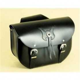 (217069) Alforjas Custom Low Bag Standard Piel Negra Spaan (Juego)