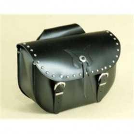 (217070) Alforjas Custom Low Bag Tachuelas Piel Negra Spaan (Juego)