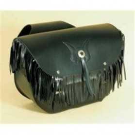 (217071) Alforjas Custom Low Bag Flecos Piel Negra Spaan (Juego)