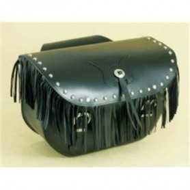 (217072) Alforjas Custom Low Bag Flecos Y Tachuelas Piel Negra Spaan (Juego)
