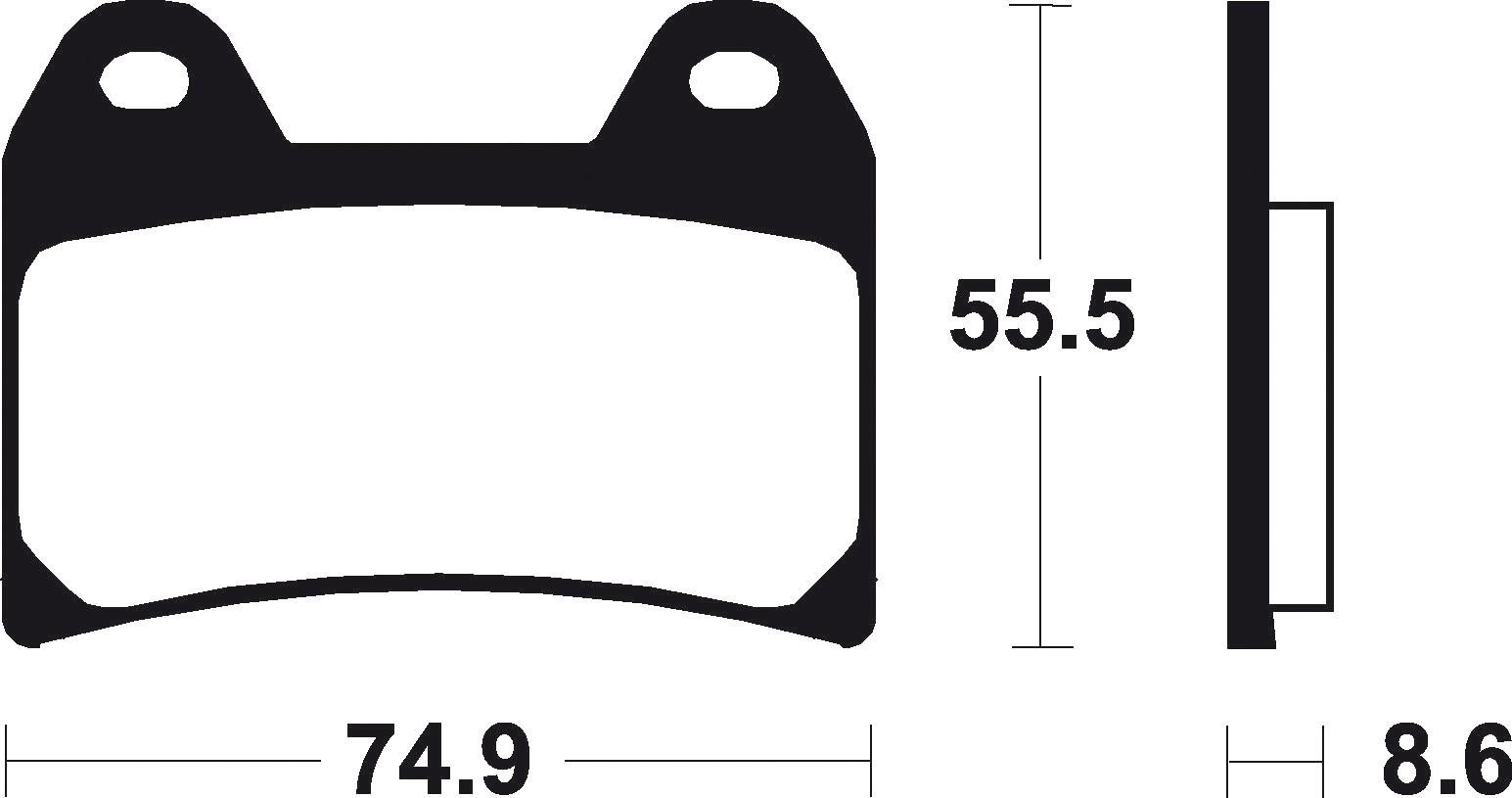 (300873) Juego Pastillas Freno KTM Duke 640 Año 03-Delanteras Bendix Organicas E