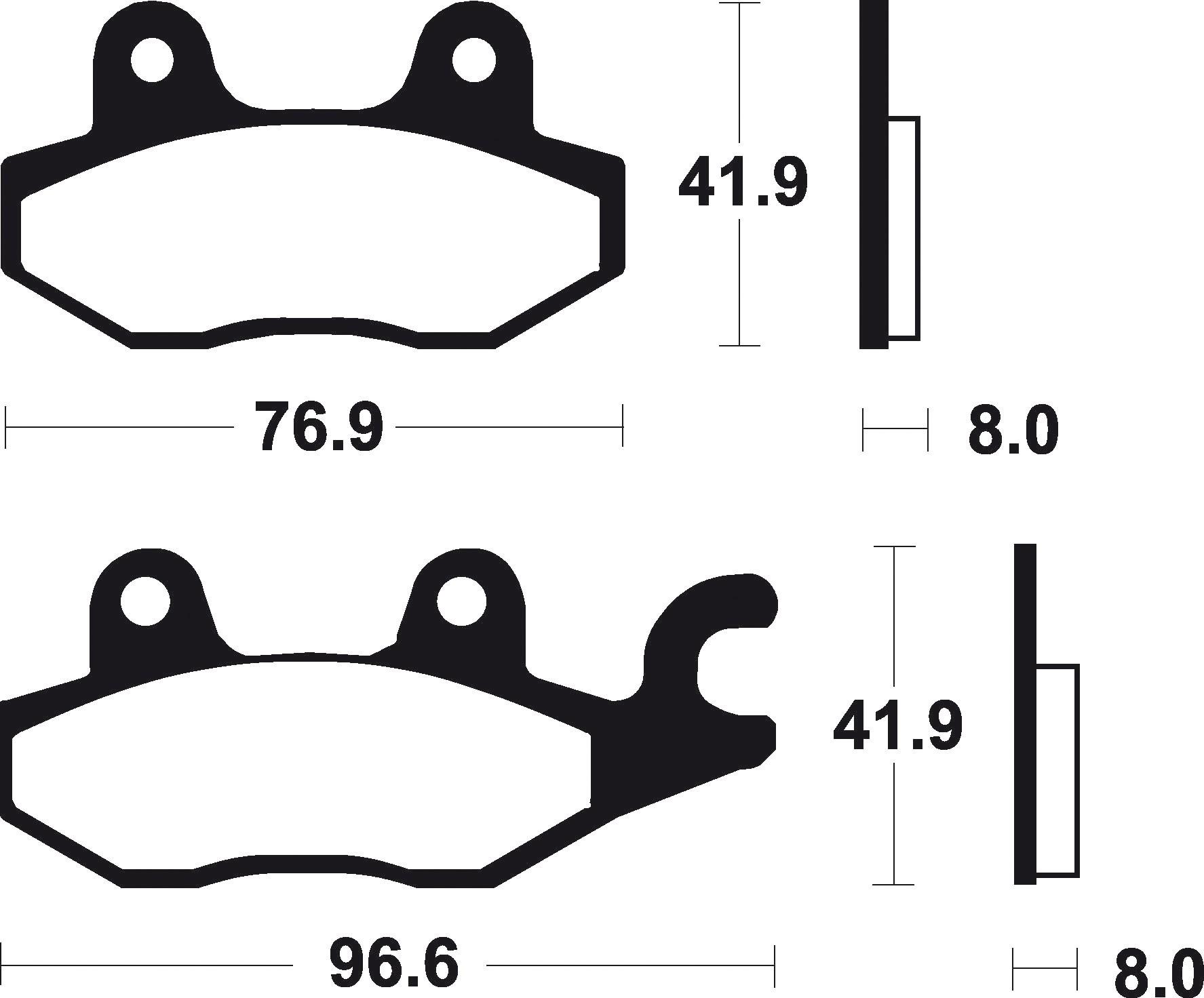 (302453) Juego Pastillas Freno TRIUMPH Trident (Derecha) 750 Año 91-Delanteras B