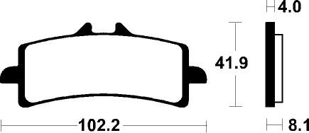 (303543) Juego Pastillas Freno BIMOTA DB8 (Pinza Radial) 1198 Año 10-Delanteras