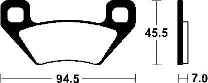 (305031) Juego Pastillas Freno ARCTIC CAT Diesel 700 Año 06-Traseras Bendix Sint