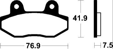 (306980) Juego Pastillas Freno HYOSUNG GT X 650 Año 07-Traseras Bendix Sinteriza