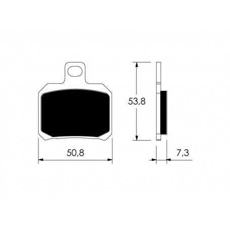 (308753) Juego Pastillas Freno RIEJU MRT Pro 50 Año 09-Delanteras Tecnium Organicas Estandar