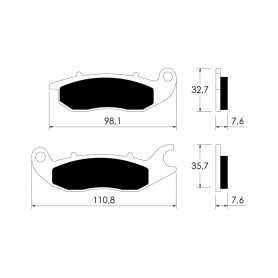(310254) Juego Pastillas Freno HONDA ANF Innova 125 Año 03-06 Delanteras Tecnium Organicas Estandar