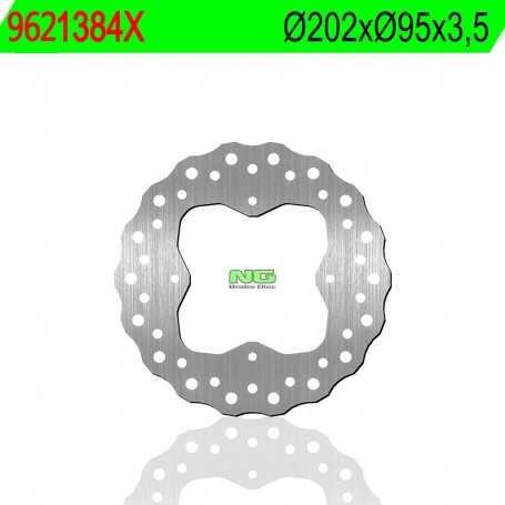 (169453) DISCO FRENO NG ARTIC CAT H1 TRV (4X4) AUTO PLUS MULITIRIDER 650CC AÑO 07 TRASERO ONDULADO