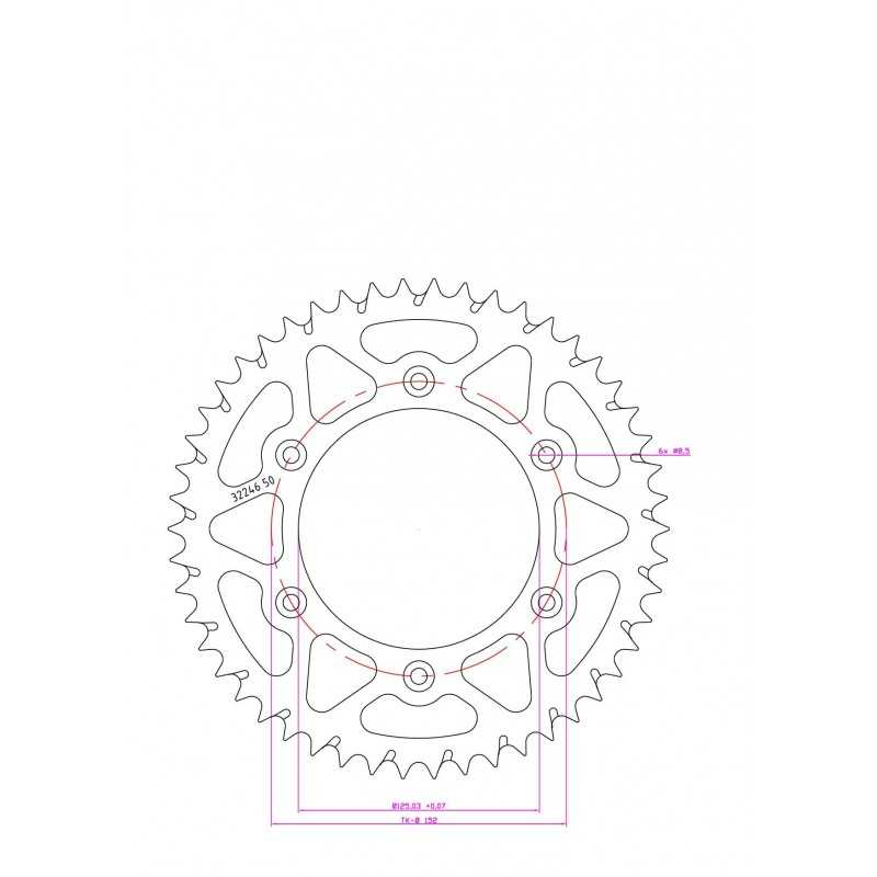 (280706) Corona ESJOT Aluminio 51-32246 50BP dientes