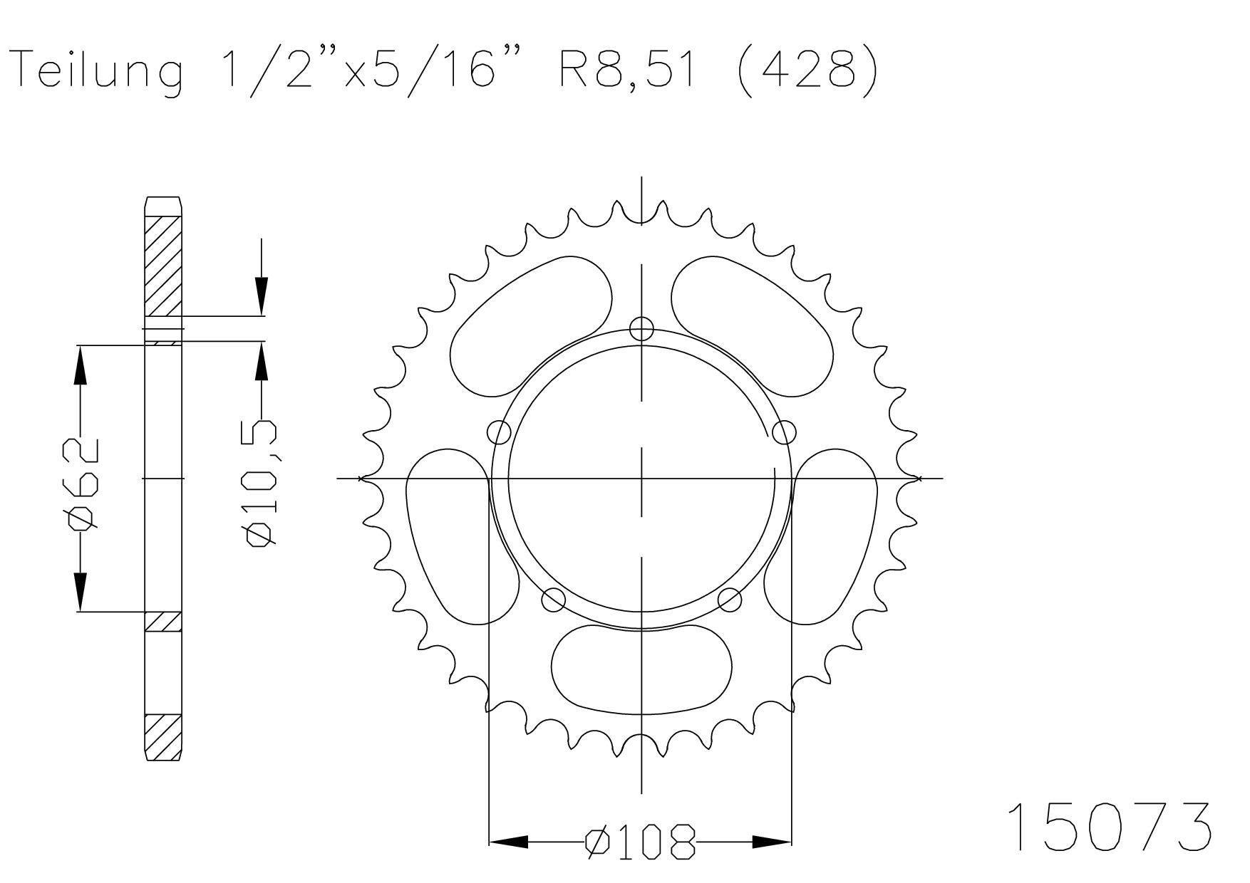 (265634) Corona ESJOT Derbi GPR Nude 125 AÑO 04-08 (50 dientes)