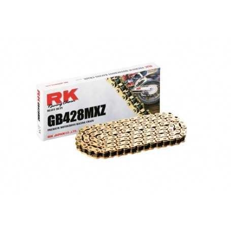 (277018) Cadena Moto RK GB428MXZ con 98 eslabones oro