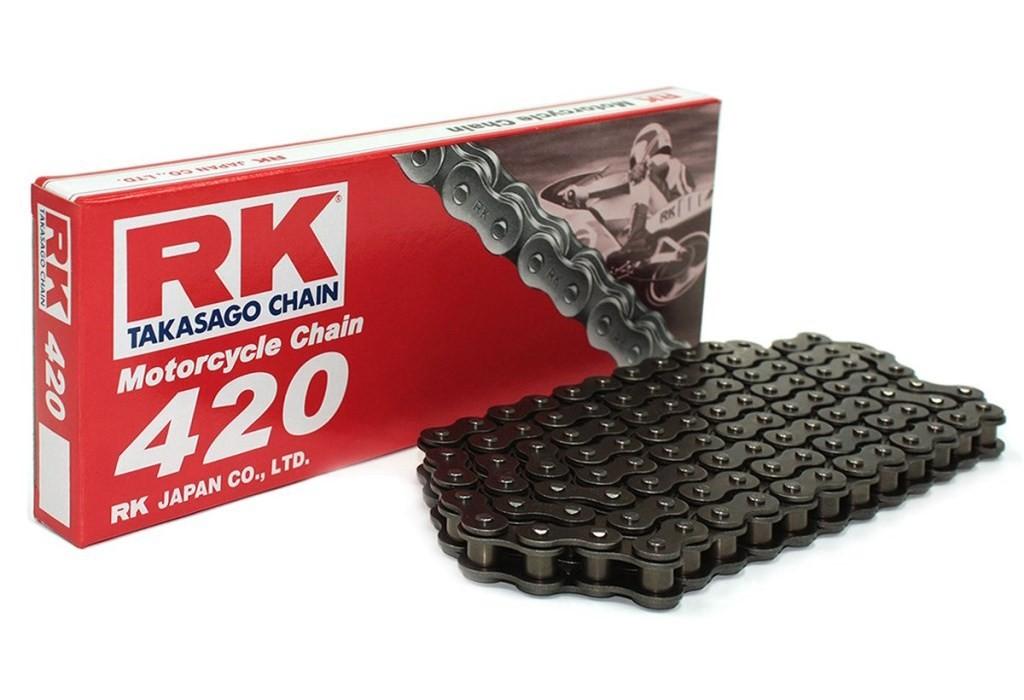 (274123) Cadena Moto RK 420M con 122 eslabones negro