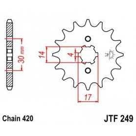 (264456) Piñon JT Suzuki DR-Z 110 AÑO 05 (14 dientes)