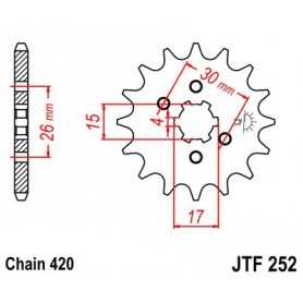 (263871) Piñon JT Honda CRF 80 AÑO 04-11 (14 dientes)