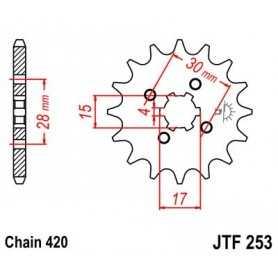 (265485) Piñon JT Honda XR 70 AÑO 97-99 (15 dientes)
