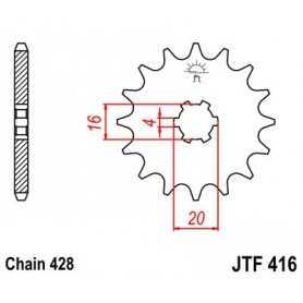 (265333) Piñon JT Yamaha YZ rueda grande 80 AÑO 94-01 (13 dientes)