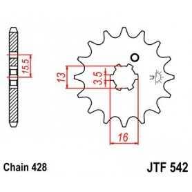 (280471) Piñon Jt 542 De Acero Con 13 Dientes