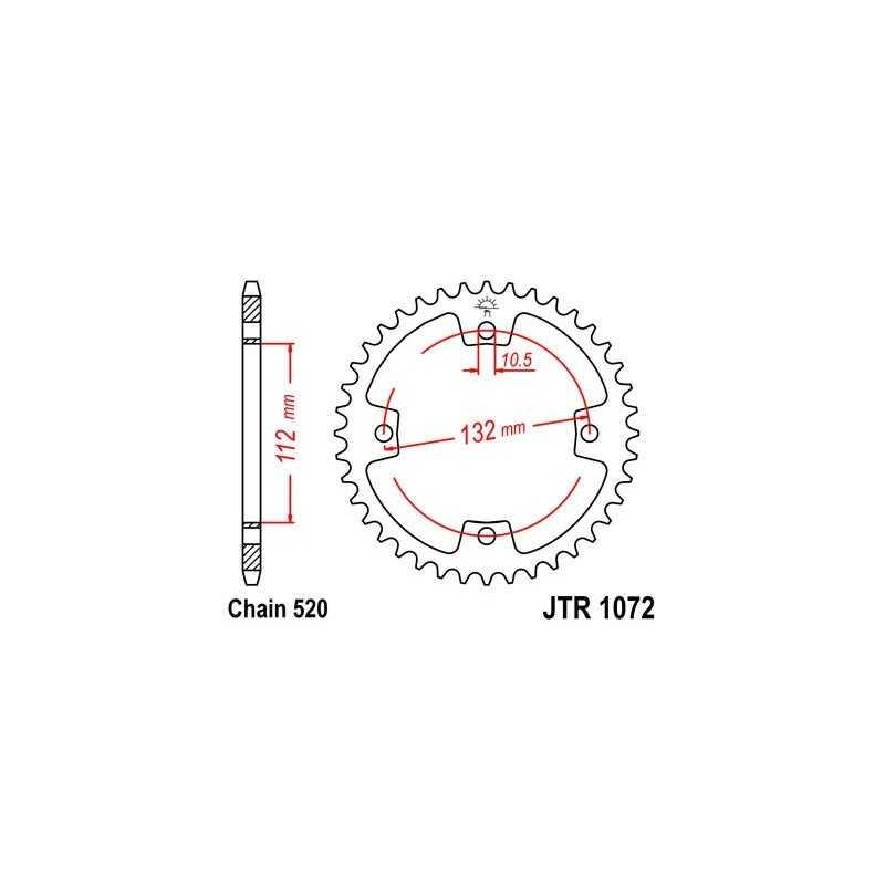 (280844) Corona JT 1072 de acero con 38 dientes