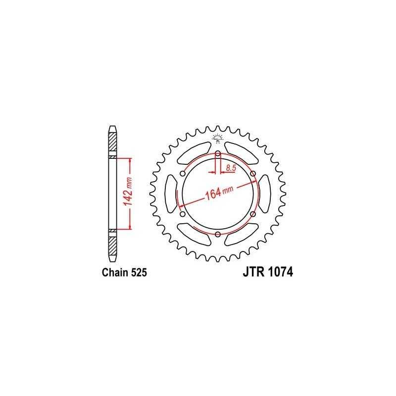 (265713) Corona JT Hyosung GT EFI 650 AÑO 11 (44 dientes)