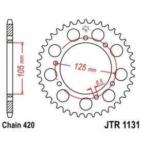 (280857) Corona JT 1131 de acero con 50 dientes