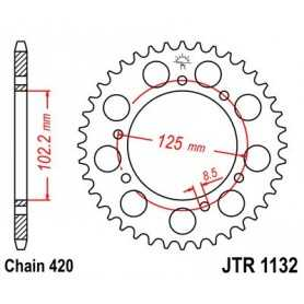(265775) Corona JT Derbi Senda R DRD Racing 50 AÑO 06-08 (53 dientes)