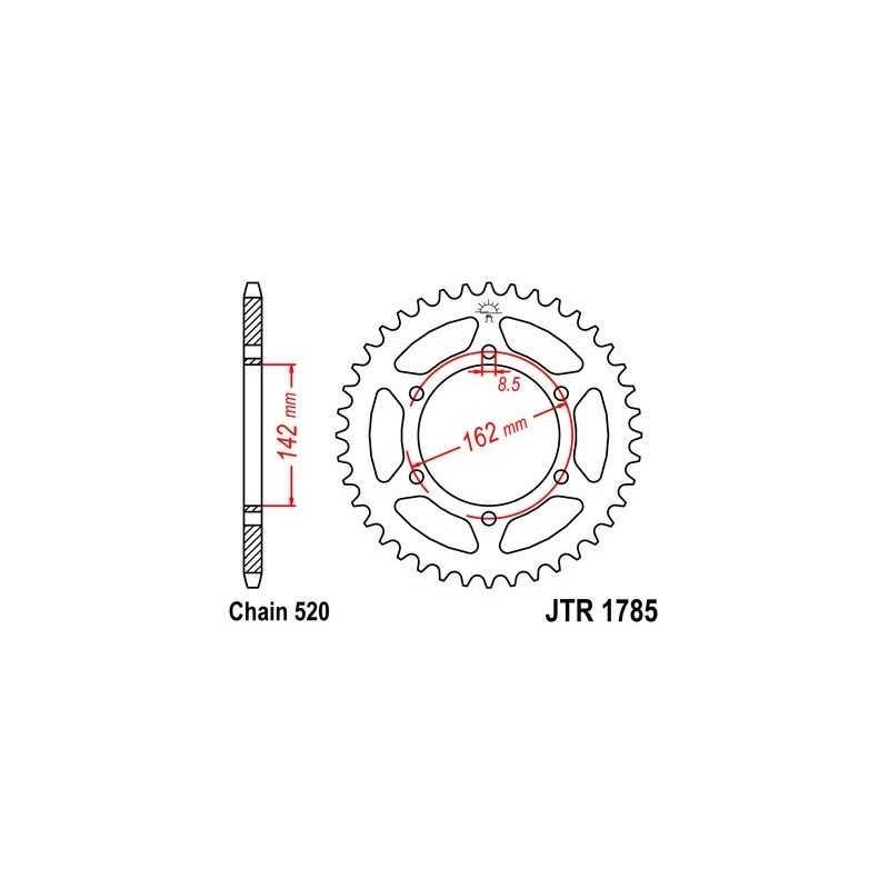 (266100) Corona JT Suzuki PE 175 AÑO 80-81 (48 dientes)