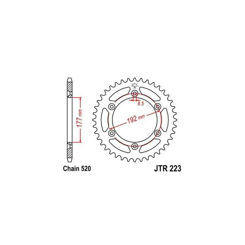 (266403) Corona JT Husqvarna WR 350 AÑO 81-88 (53 dientes)