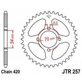 (281205) Corona JT 257 de acero con 40 dientes