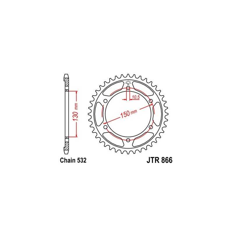 (267618) Corona JT Yamaha FZR R (EXUP) 1000 AÑO 89-95 (47 dientes)