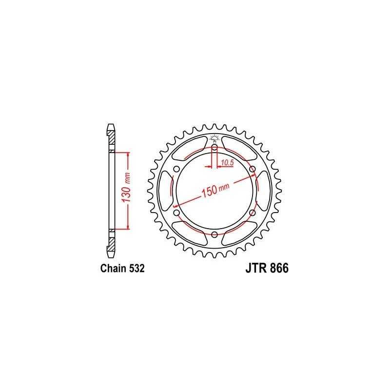(267620) Corona JT Yamaha YZF R Thunder Ace 1000 AÑO 98-00 (47 dientes)