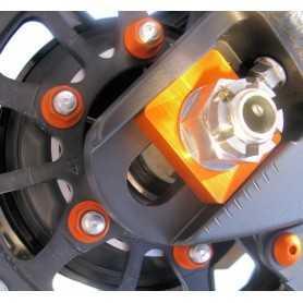(369851) Tuerca De Corona 10Mm X 1,25 (6 Unidades) Aluminio Naranja Pro-Bolt Spn10O