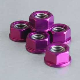 (369852) Tuerca De Corona 10Mm X 1,25 (6 Unidades) Aluminio Violeta Pro-Bolt Spn10P