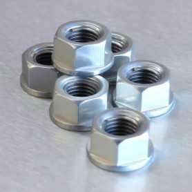 (369854) Tuerca De Corona 10Mm X 1,25 (6 Unidades) Aluminio Plata Pro-Bolt Spn10S