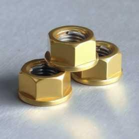 (369865) Tuerca De Aluminio Pro-Bolt 10Mm Oro Lspn10G