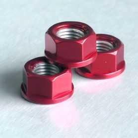 (369878) Tuerca De Aluminio Pro-Bolt 10Mm Rojo Lspn10R