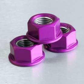 (369873) Tuerca De Aluminio Pro-Bolt 12Mm Violeta Lspn12P
