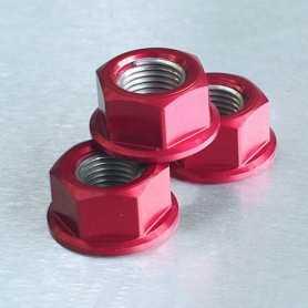 (369874) Tuerca De Aluminio Pro-Bolt 12Mm Rojo Lspn12R