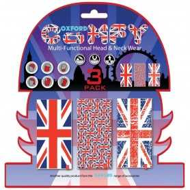 (406486) Braga Confort Union Jack (Bnadera UK) pack de 3 Oxford NW120