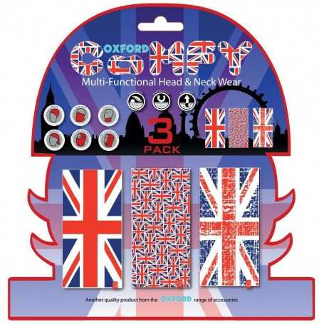 (406486) Braga Confort Union Jack (Bnadera UK) pack de 3 Oxford NW120