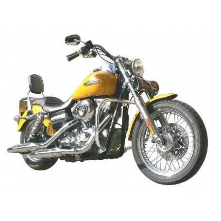 (54249) Protector De Motor (Defensa) Negro (Tubo diametro 30 Mm) Harley Davidson Dyna