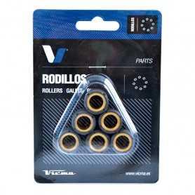 (420425) Juego Rodillos Variador Tecnium APRILIA Scarabeo 2T 50 Año 93-05 Ø15x12 - 6,5GR
