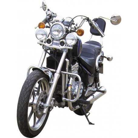 (54767) Protector De Motor (Defensa) Negro (Tubo diametro 25 Mm) Kawasaki Vulcan 500 (