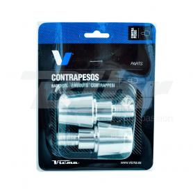 (479273) Contra-pesos manillar ALU 13,5mm.Plata