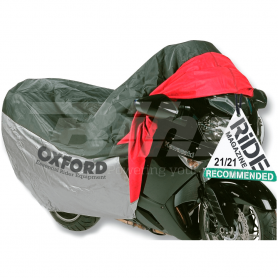 (479533) Funda de proteccion para motocicletas con bolsillo frontal T.L (183cm) Oxford OF924