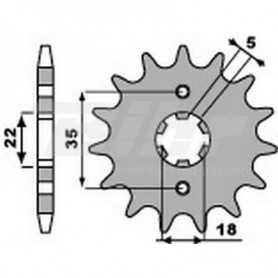 (491320) Piñon PBR 14 dientes cadena paso 428 Yamaha TW125