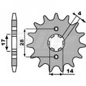 (491358) Piñon PBR 12 dientes para cadena paso 420 Derbi 50CC