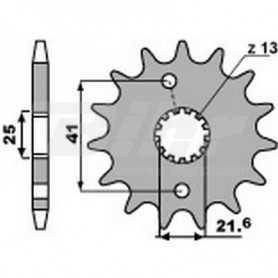 (491359) Piñon PBR 13 dientes para cadena paso 520 Aprilia 250 RS