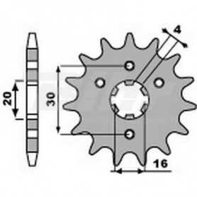 (491384) Piñon PBR 13 dientes para cadena paso 428 Kawasaki KMX125